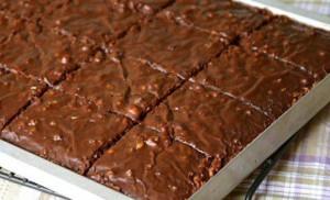 шоколадно-ореховое пирожное